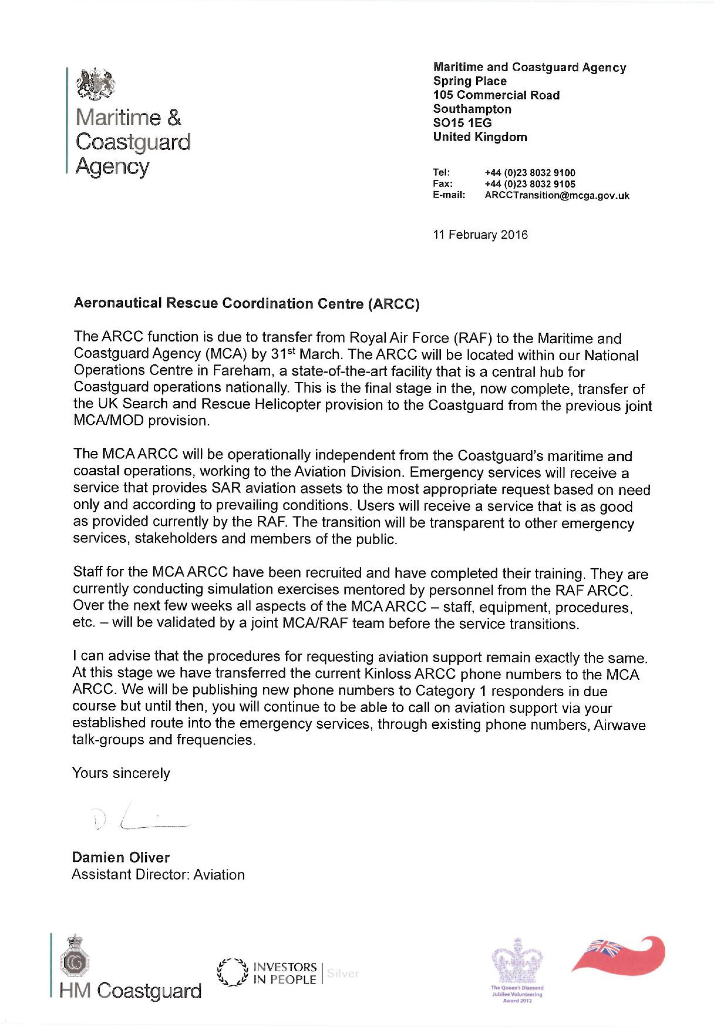 Stakeholder Letter